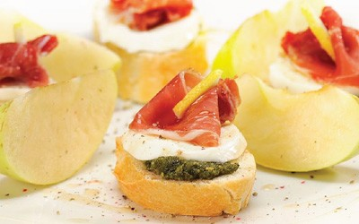 Toasts au pesto italien Costa Ligure